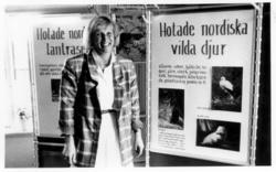"""Enligt text på fotot: """"Chefen för Nordens Ark Lena Maria Lin"""