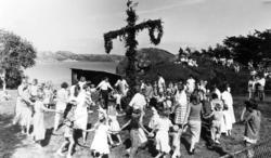 Midsommarfirande i Hovenäset år 1986
