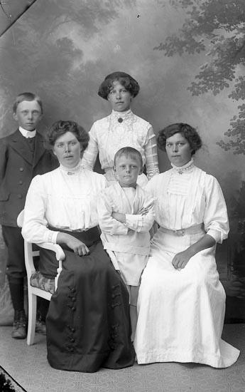 """Enligt fotografens journal Lyckorna 1909-1918: """"Wahlström, Fru Ljungskile""""."""