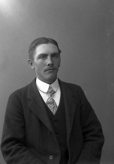 "Enligt fotografens journal nr 2 1909-1915: ""Lindqvist, Emil Mellby Spekeröd""."