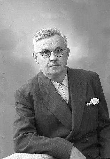 """Enligt fotografens journal nr 8 1951-1957: """"Richter, Herr Alfred Havsviken Här""""."""