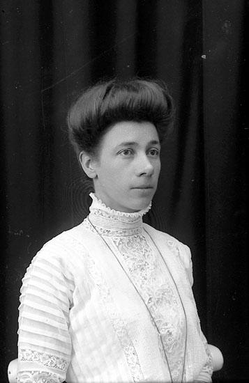 """Enligt fotografens journal Lyckorna 1909-1918: """"Hilmers, Fru""""."""