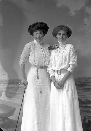"""Enligt fotografens journal nr 2 1909-1915: """"Pilo Fru o Fr. Wiklund""""."""