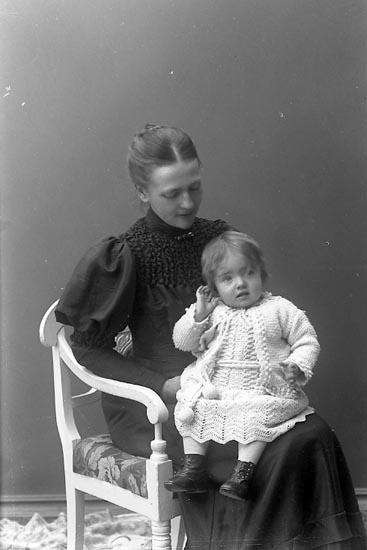 "Enligt fotografens journal nr 1 1904-1908: ""Frank, Fru Elisabeth Prästgården Ödsmål""."