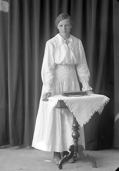 """Enligt fotografens journal nr 3 1916-1917: """"Abrahamsson, Elin Inlag Här""""."""