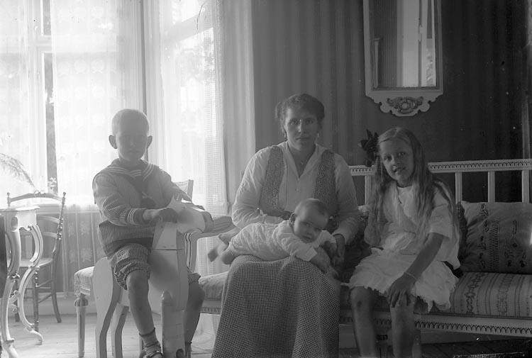 "Enligt fotografens journal Lyckorna 1909-1918: ""Andersson, Fru Olof""."
