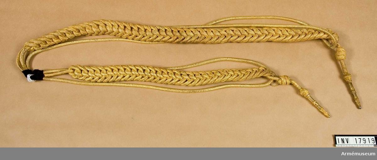 Ägiljett m/1816, stor. Grupp C I. Burna av major C R Ljungberg f 1872.