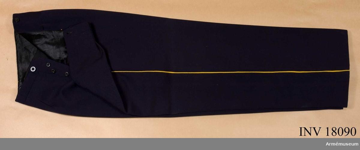 Grupp C I. Ur uniform för kapten vid Gotlands reg. Av diagonal.