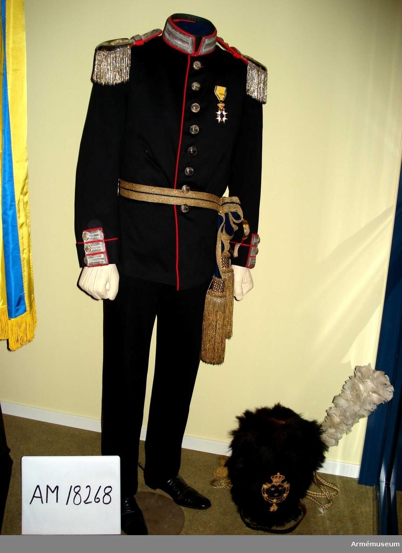 Grupp C I. Ur uniform för officer, major, vid Göta livgarde.