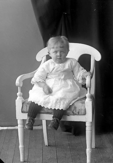 """Enligt fotografens journal nr 4 1918-1922: """"Svensson, Robert Hamra, Ucklum""""."""