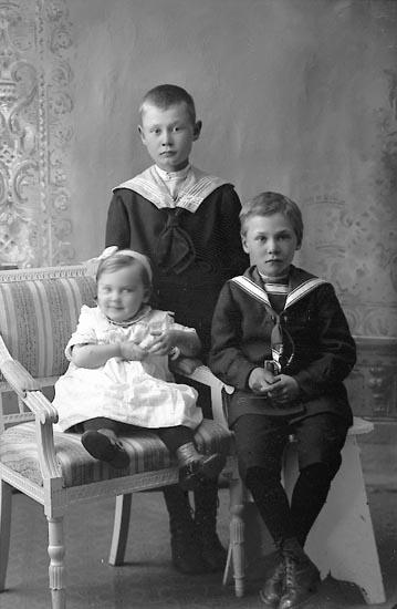 """Enligt fotografens journal Lyckorna 1909-1918: """"Karlsson, Allan Brandseröd Ljungskile""""."""