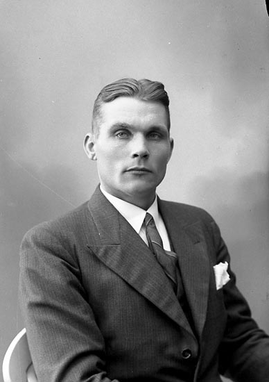 """Enligt fotografens journal nr 6 1930-1943: """"Magnusson, Ernst Hällebäck Här""""."""