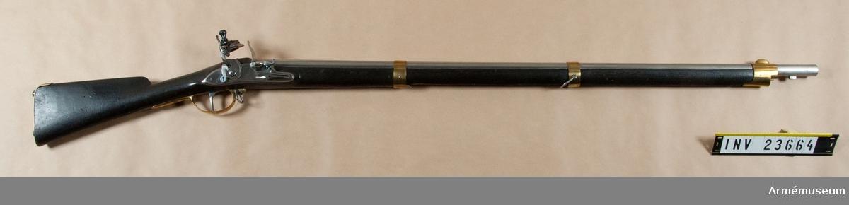 Grupp E II b. Gevär m/1791, förändrad från m/1747. Reparationsmodell.