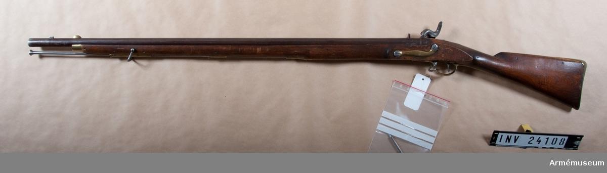 Grupp E IIb Med slaglås förändringsmodell 1851 från engelska flintlåsggevär m/1762 för Gotlands nationalbeväring.