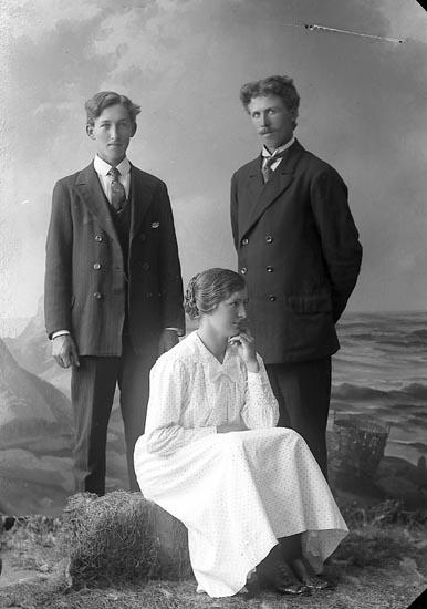 """Enligt fotografens journal nr 4 1918-1922: """"Berntsson, Albert Järnblästen Här""""."""