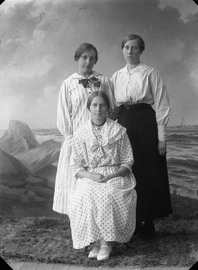 """Enligt fotografens journal nr 3 1916-1917: """"Karlsson, Helga Ön""""."""