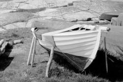 """Motivbeskrivning: """"Knöde strand."""" Datum: 1980"""