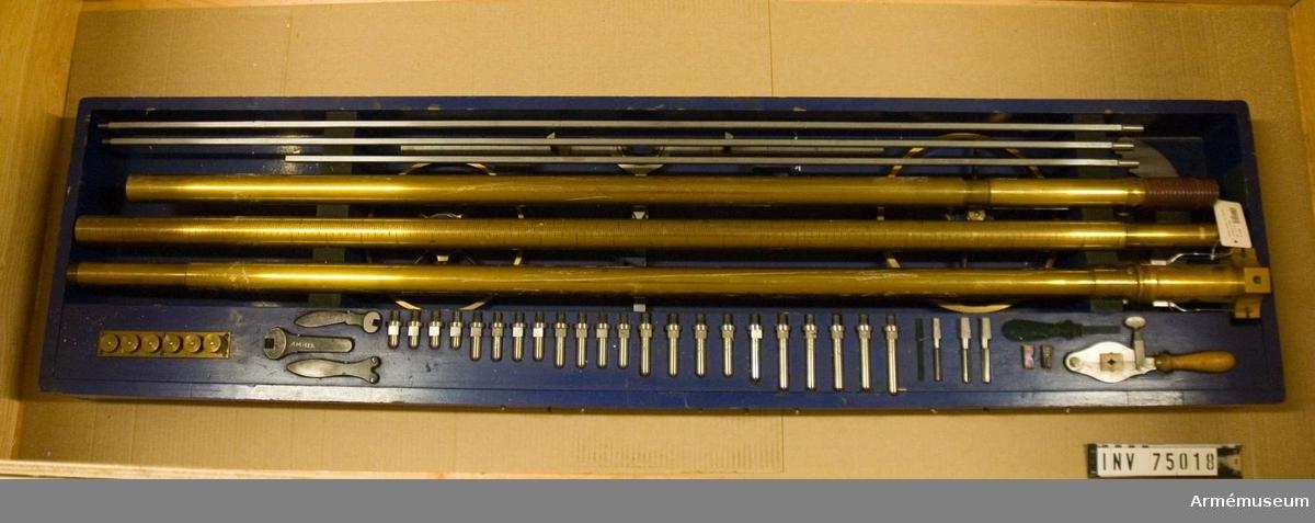 Grupp F:(III(överstruket)) V.   Kalibermätare eller s.k. etoil för kaliberns uppmätande i 24 cm. kanoner m/1870, m/1873, samt 27 cm. kanoner m/1874.