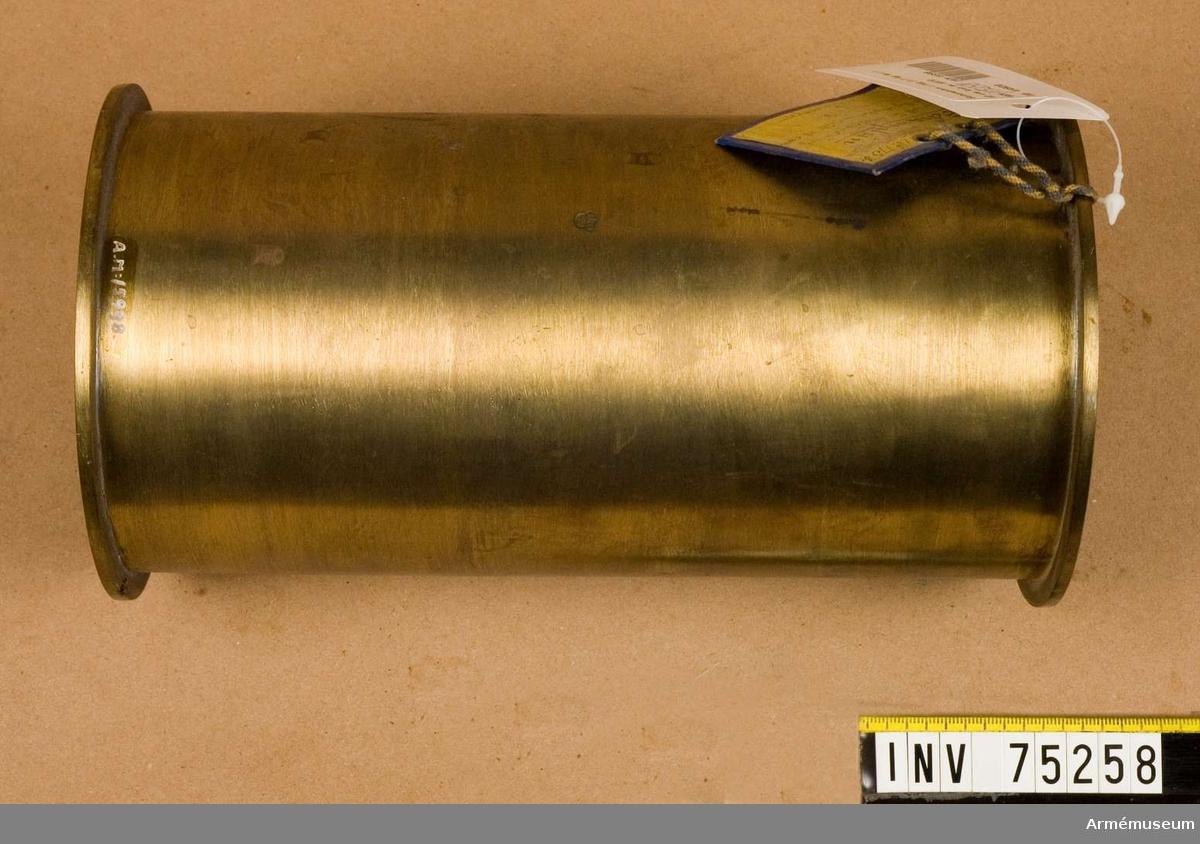 Grupp F.V. Schamplun av metall för stridsladdning a 1.7 hg. styckekrut till 12 cm framladdningskanoner m/1870