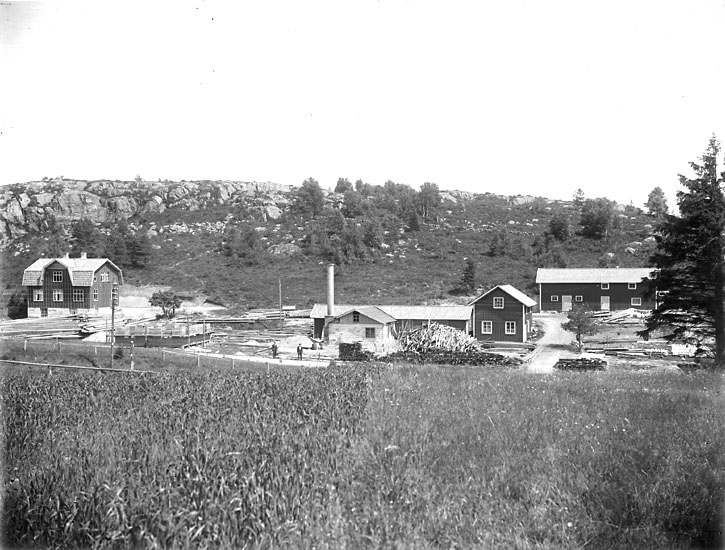 "Enligt noteringar: ""Hallindens såg vid Lysekilsbron."" (BJ)"