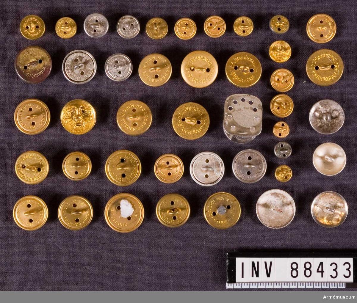 Diverse för knappar.