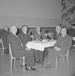 """Text till bilden: """"Pensionklubben. Julfest. 1955.01"""""""
