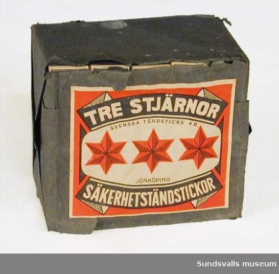 """Säkerhetständstickor av märket """"Tre stjärnor"""" Orginalförpackning"""