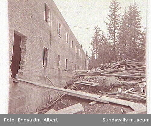Uppbyggnaden av Hagaskolan.