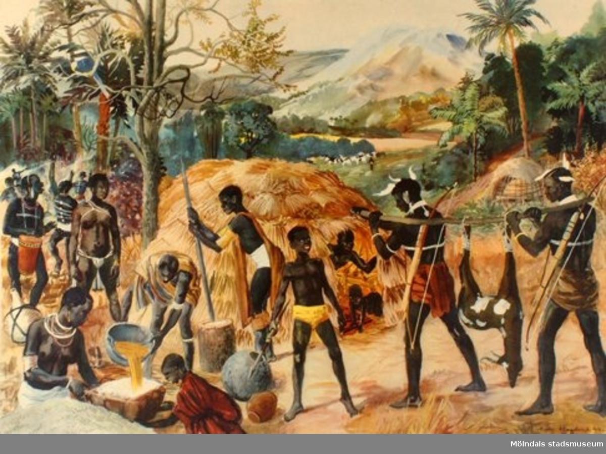:1: Lappar.:2: Negrer.:3: Beduiner.:4: Dvärgfolk.:5: Indier.:6: Kineser.:7: Japaner.:8: Polynesier.:9: Indianer.:10: Eskimåer.