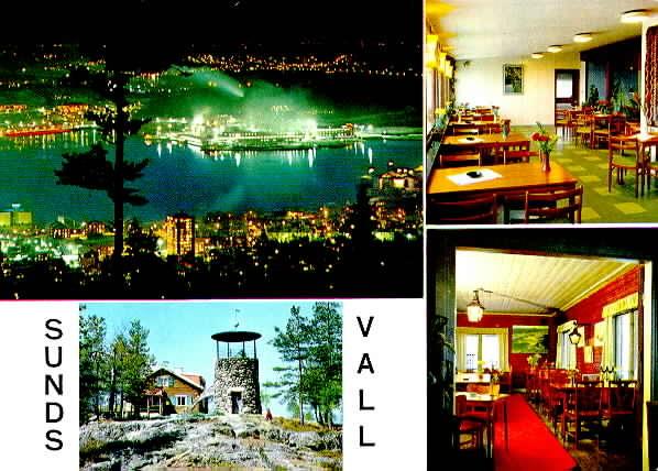 Sundsvall - Södra Stadsberget och Gillestugan, vykort.