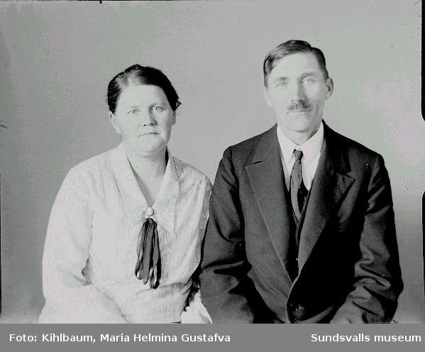 Porträtt. Man och kvinna.