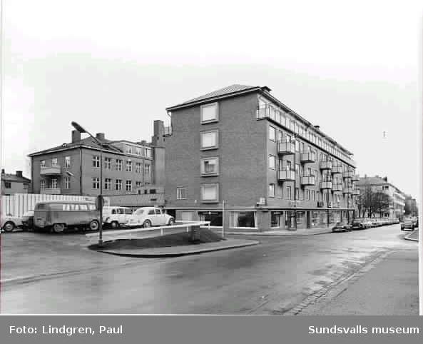 Kombinerad kyrko-och bostadsbyggnad. Rådhusg 37 och Trädgårdsgatan 36Filadelfiaförsamlingen i Sundsvall