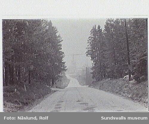 Kulturmiljöinventering. Väg mot Njurunda kyrka från Solberg.