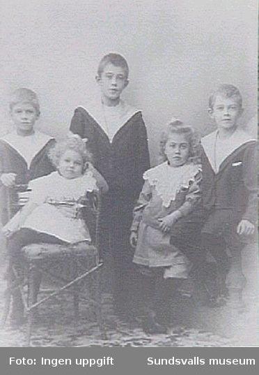 Barn till disponent Gustaf Johansson (Johannedals sågverk) och hans fru Lydia. Maja gifte sig med Gunnar (född 1892).