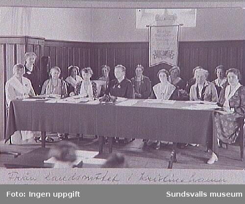 Repro ur fotoalbum tillhörande Sundsvalls Martha-förening-Hem och samhälle, inlånat genom Britta Stattin.