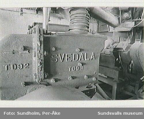 Dokumentation av aluminiumsmältverket GA Metall AB, Sudnsvall. Samtidig dokumentation med Tekniska museet. Stockholm.Gjuteriet, Marinitverkstaden, Elektrodmassefabriken.