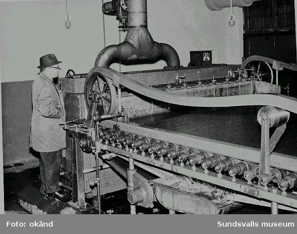 Pappsal 2 E. Övering Fritz Bolin vid Nensjö cellulosafabrik, som vid denna tid- slutet av 1950-talet - tillhörde Kramfors AB, SCA