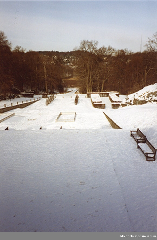 Norra trädgården, cirka 1993.