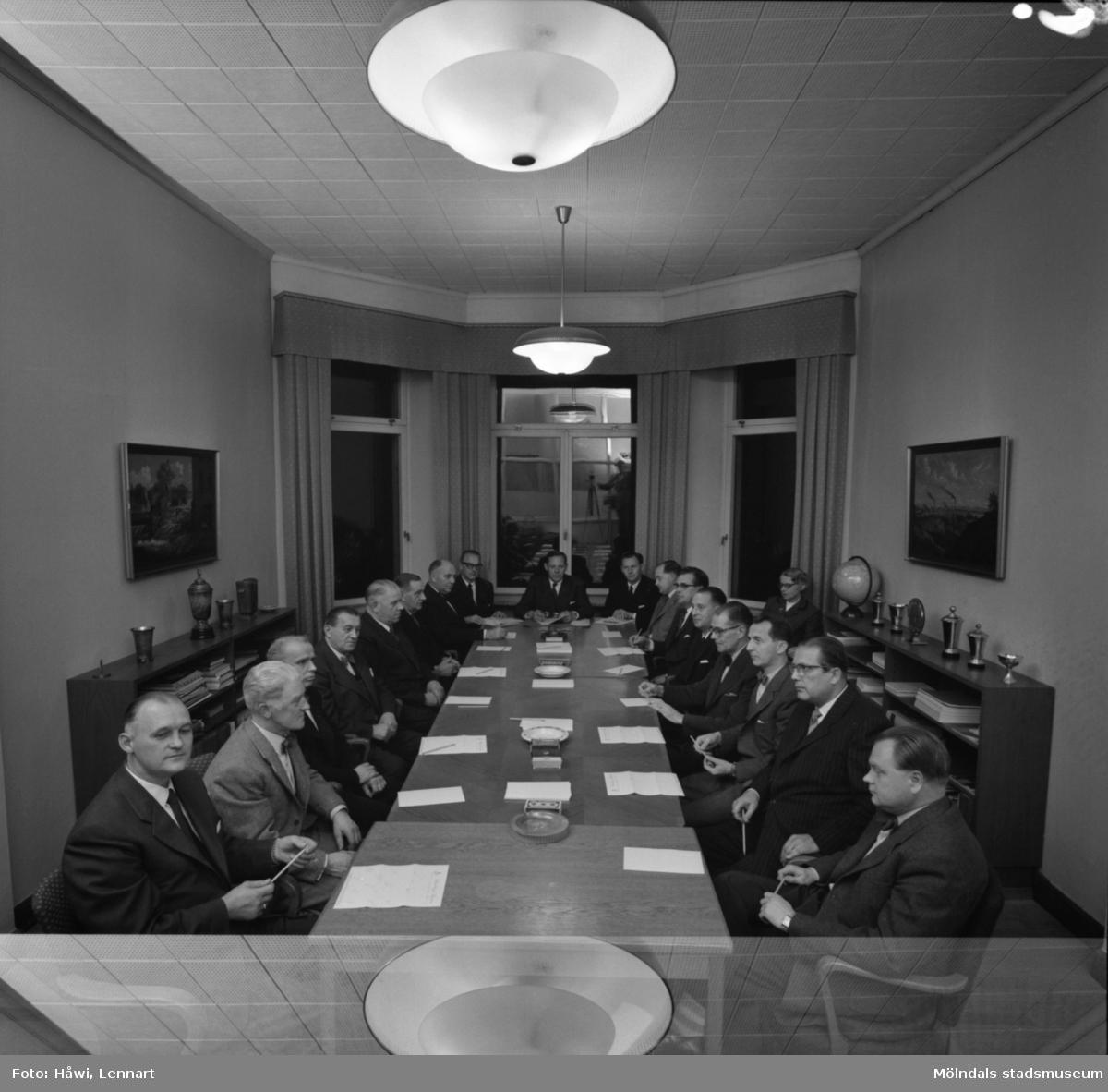 Företagsnämnden på Papyrus i Mölndal, 23/10 1956.