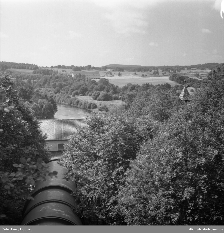 Ätrafors kraftstation, 25/7 1960. Inloppskanal. Utsikt från turbintagen.