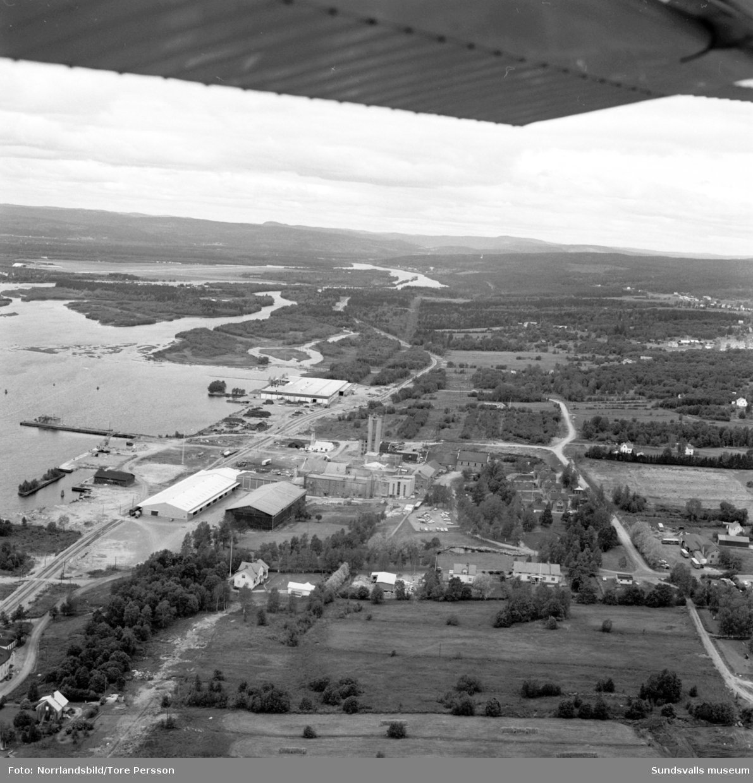 Flygfoton över Söråker och omgivande områden.