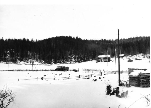Linjerna Ånge - Röjan - Fjällnäs. Mellan Överturingen och Handsjön, 11/3 1933.