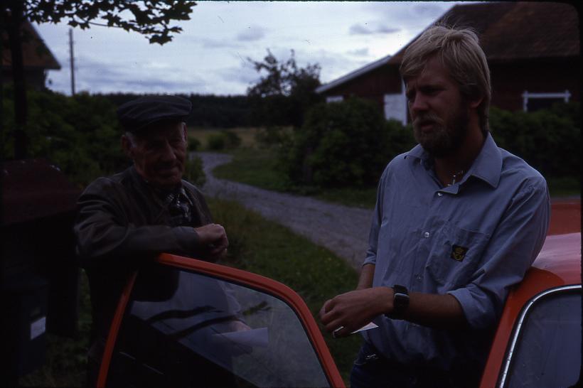 Lantbrevbäraren Mikael Mattsson och Gustav Andersson i Räfsta (nygård).