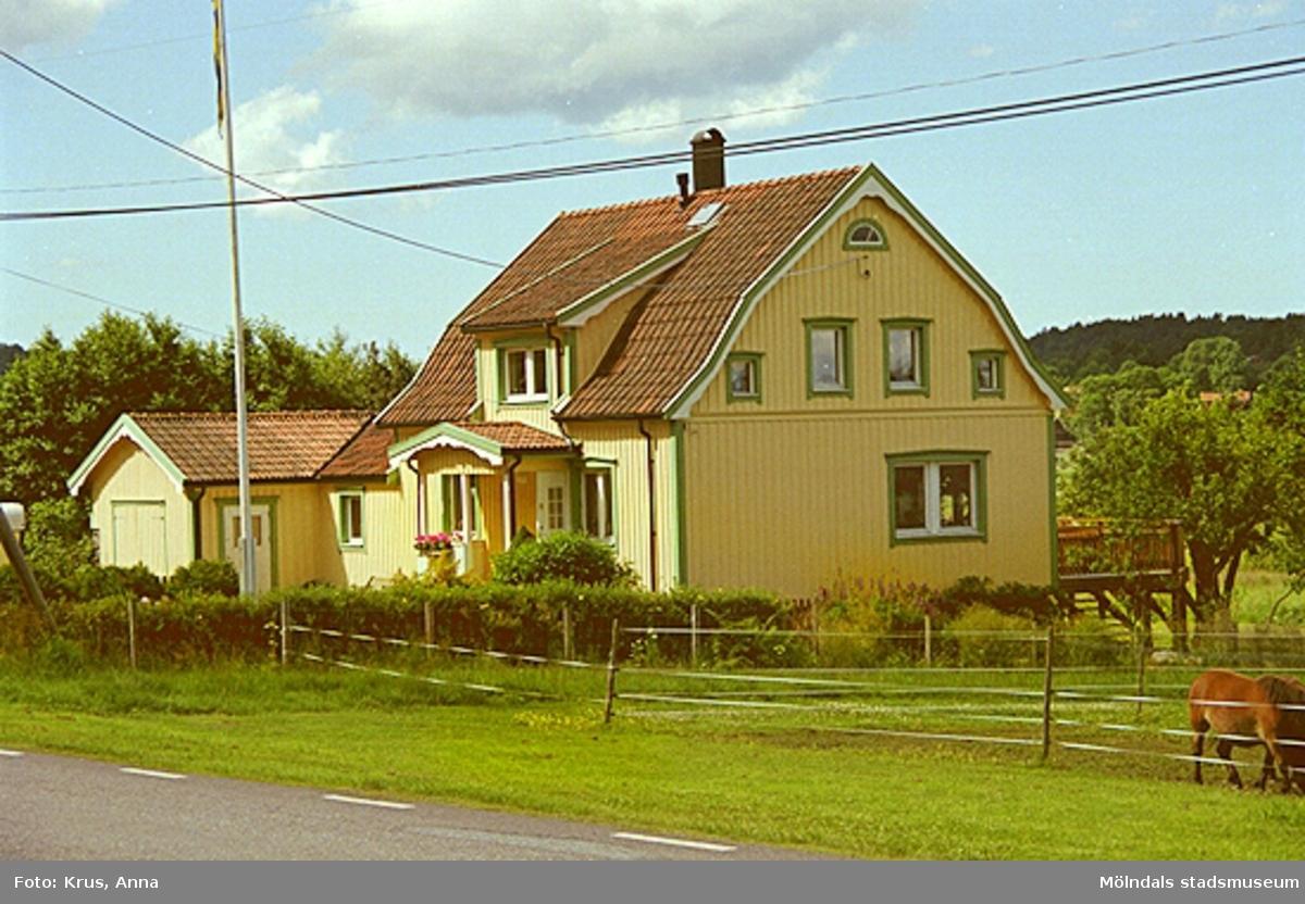 """Lindome 6:123. Boningshus från nordost. """"Gösens""""."""