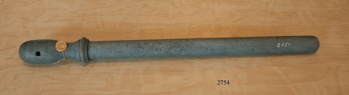 Raketvindare av gråmålat trä för 1-pundig raket.