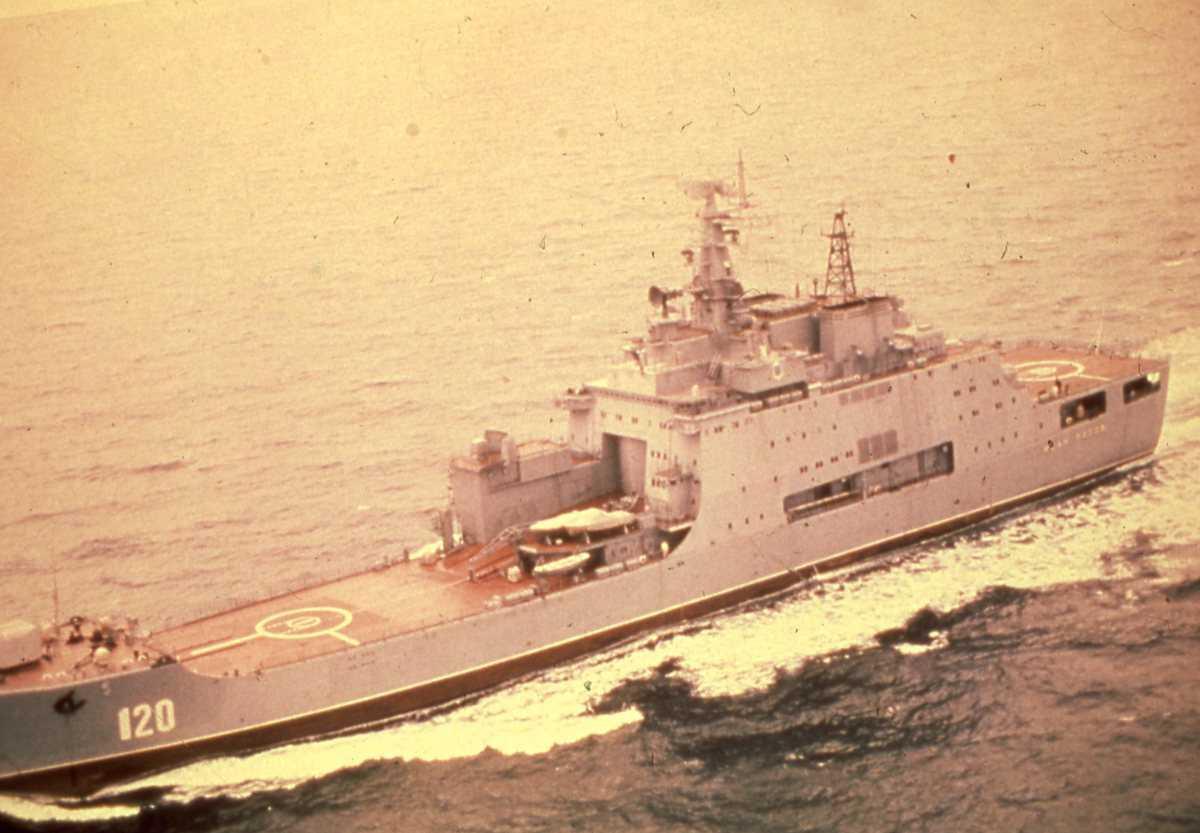 Russisk fartøy av Ivan Rogov - klassen med nr. 120 og heter Ivan Rogov.