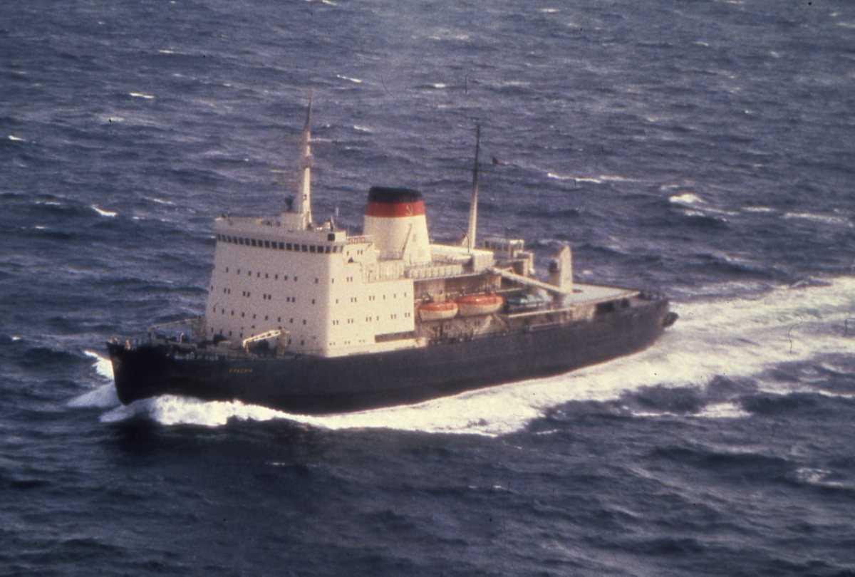 Russisk fartøy av Yermak - klassen og heter Krasin.