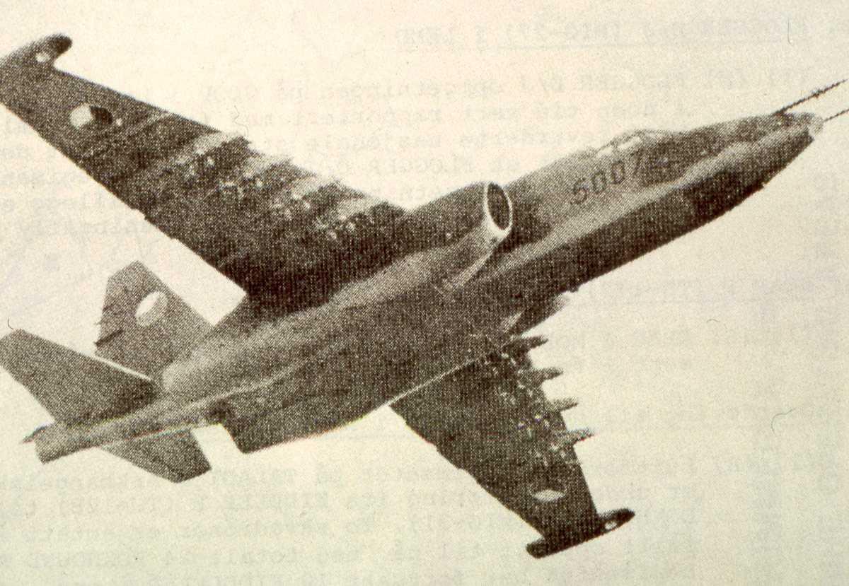 Russisk fly av typen Sukhoi Su-25 Frogfoot med nr. 5007.