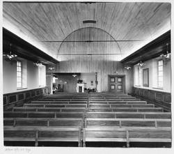 Åhls församlingshus Stora salen Interiör
