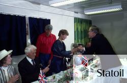 Den 10. mai 1984 døpte kronprinsesse Sonja Statfjord C, mens